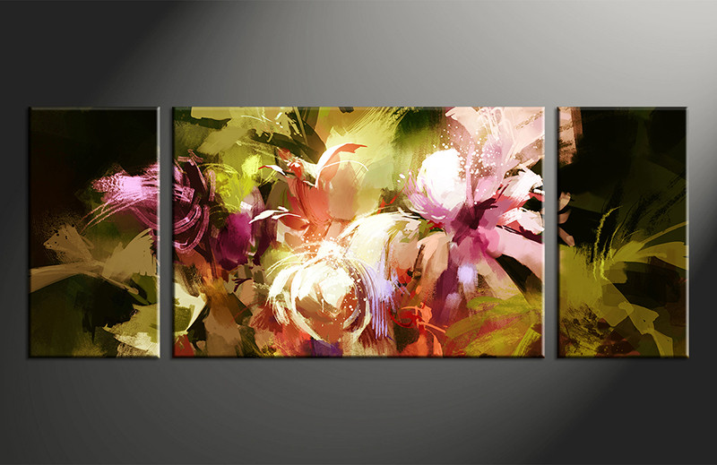 Floral Canvas Wall Art 3 piece colorful canvas wall art floral oil paintings