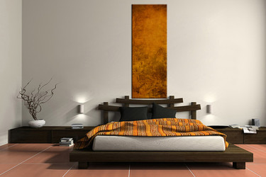 1 piece canvas wall art, bedroom art print, brown abstract large canvas, abstract multi panel canvas