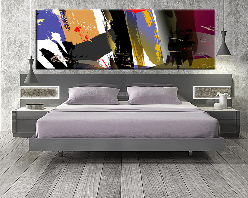 1 Piece Canvas Wall Art, Bedroom Art Print, Colorful Abstract Large Canvas,  Abstract