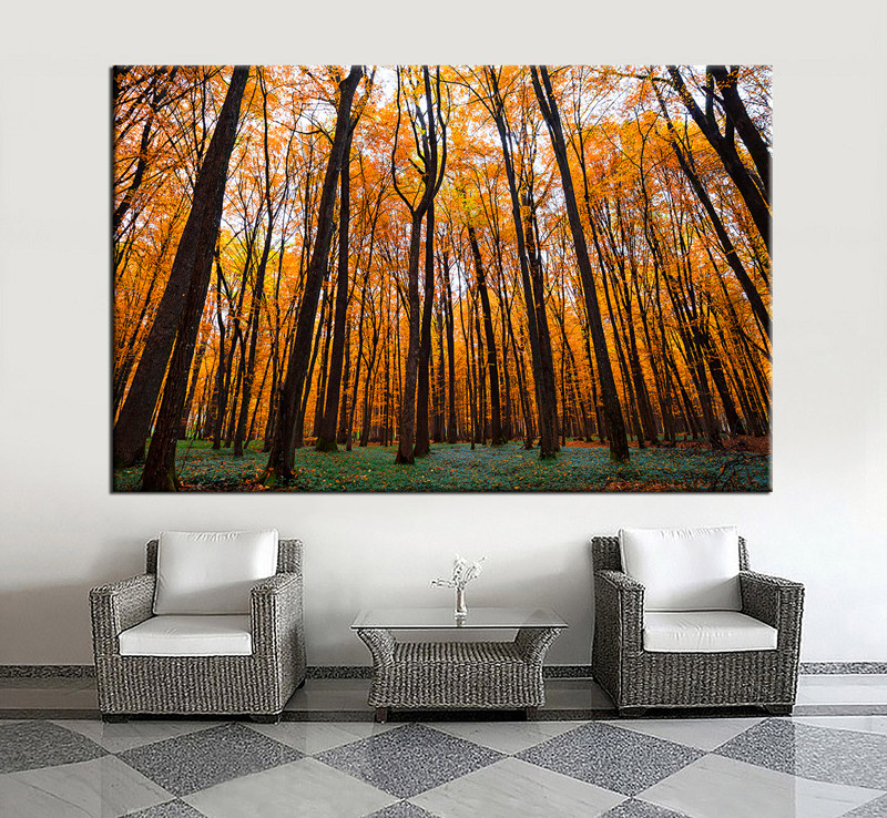 Wall Decor Paintings 1 piece orange scenery autumn trees wall decor