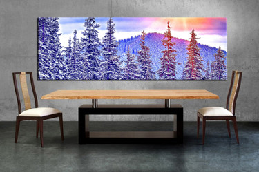 3 piece evening blue forest canvas wall art