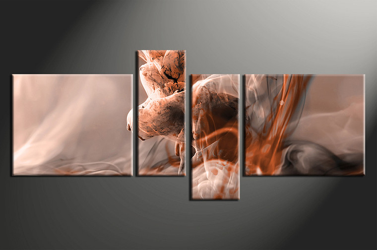 4 piece modern brown multi panel canvas. Black Bedroom Furniture Sets. Home Design Ideas