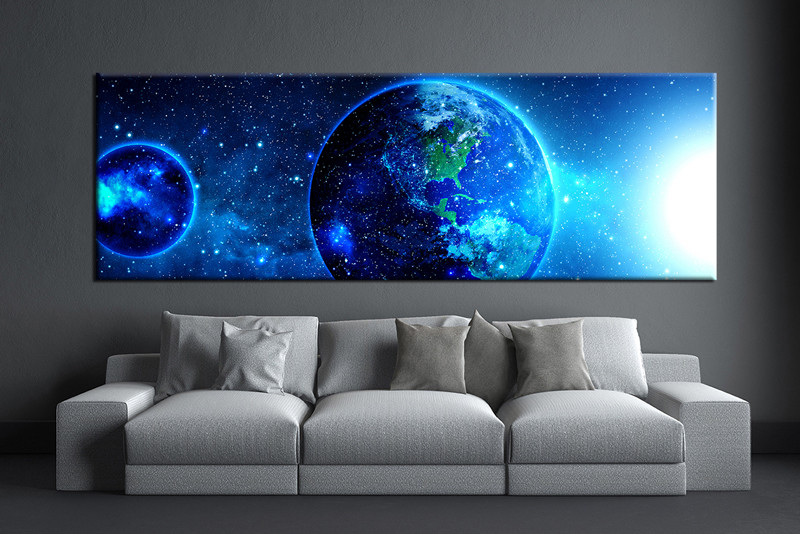 Blue Canvas Wall Art 1 piece blue pictures modern huge canvas art