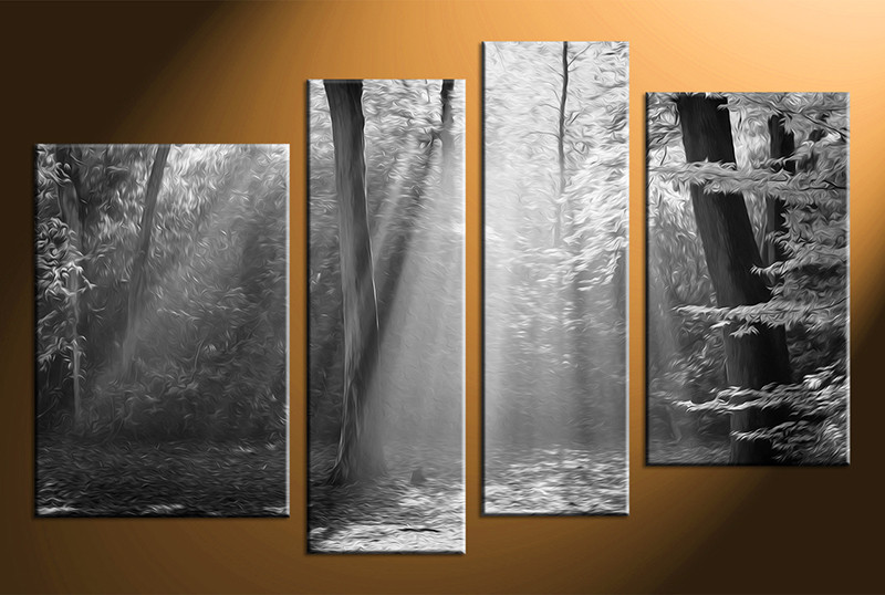 4 piece canvas photography scenery home decor art black and white canvas art