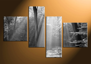 4 piece canvas wall art, black and white black and white pictures, scenery home decor, oil paintings wall art