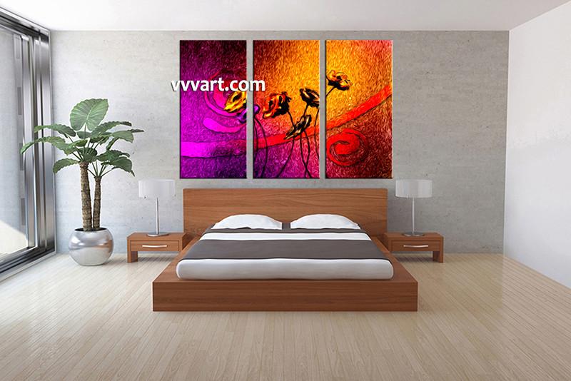 3 piece canvas wall art bedroom artwork floral large canvas floral multi panel