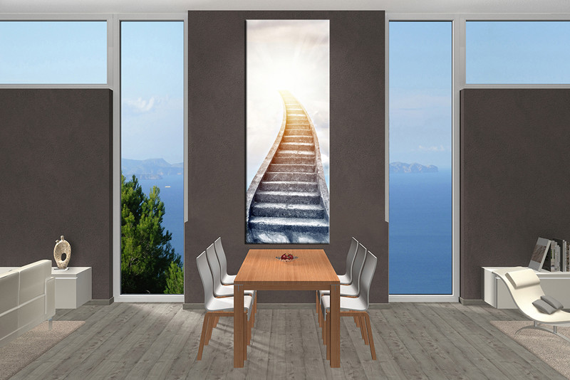 1 piece white large pictures stair modern artwork for Large paintings for dining room