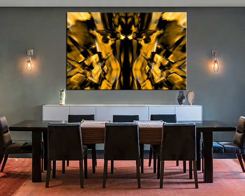1 Piece Wall Decor Dining Room Canvas Photography Yellow Abstract Artwork Photo