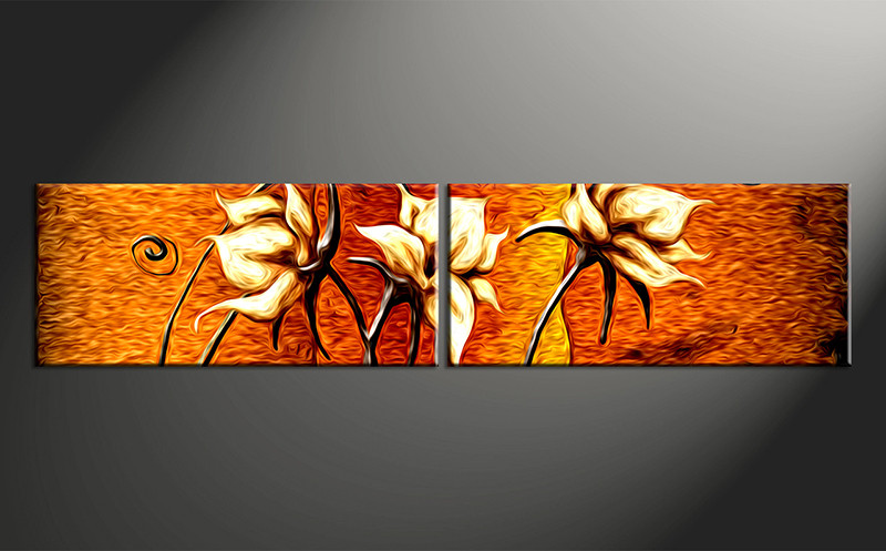 2 Piece Canvas Photography Home Decor Art Floral Huge Pictures Wall