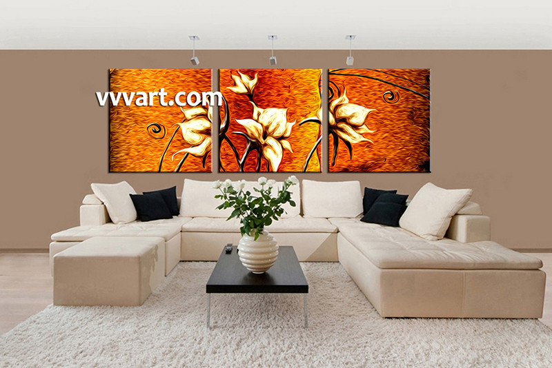 large canvas art trees piece floral oil paintings living room wall birch clearance