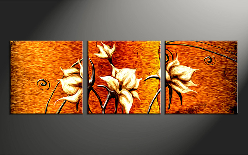 3 Piece Canvas Wall Art, Floral Floral Pictures, Floral Home Decor, Oil  Paintings