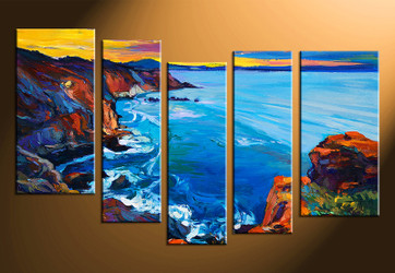 5 piece canvas photography, ocean home decor art, ocean canvas art print, oil paintings ocean huge pictures
