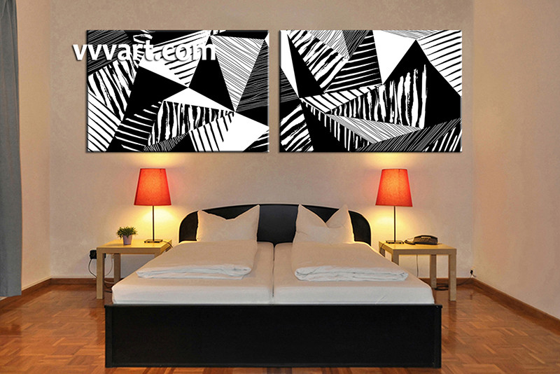 paintings for bedroom. 2 piece canvas wall art  bedroom huge oil paintings abstract large pictures Piece Canvas Abstract Black and White Oil Paintings Art