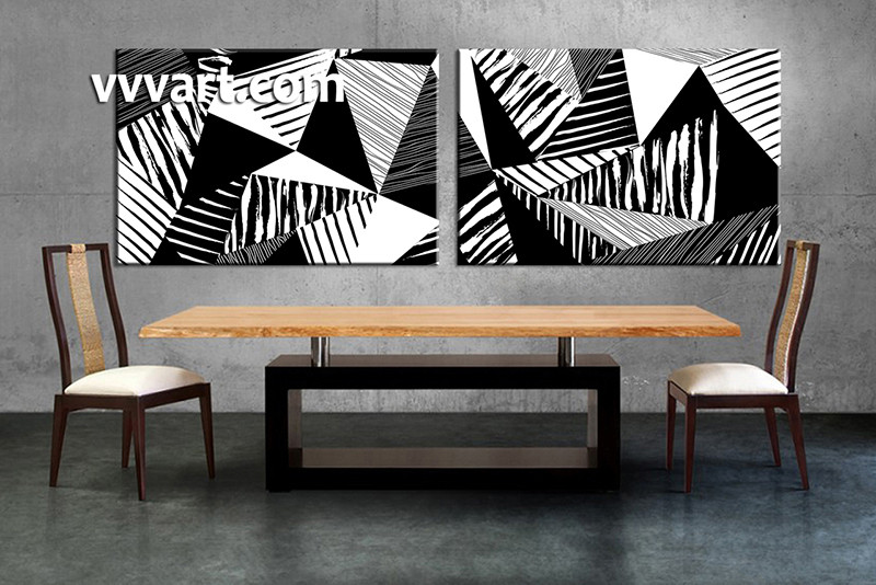 2 piece canvas wall art abstract canvas wall art oil paintings black and white