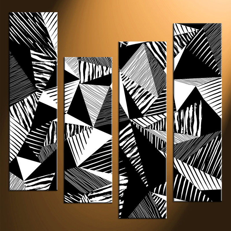 4 piece large pictures home decor wall art black and white canvas photography