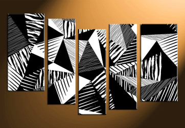 home decor art, 5 piece canvas wall art, oil paintings canvas wall art, abstract group canvas, black and white pictures