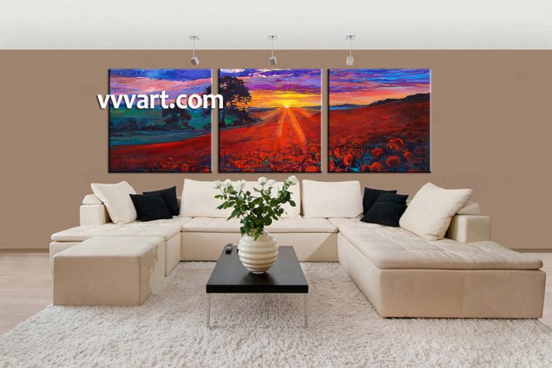 3 Piece Canvas Wall Art, Living Room Huge Canvas Art, Scenery Photo Canvas,