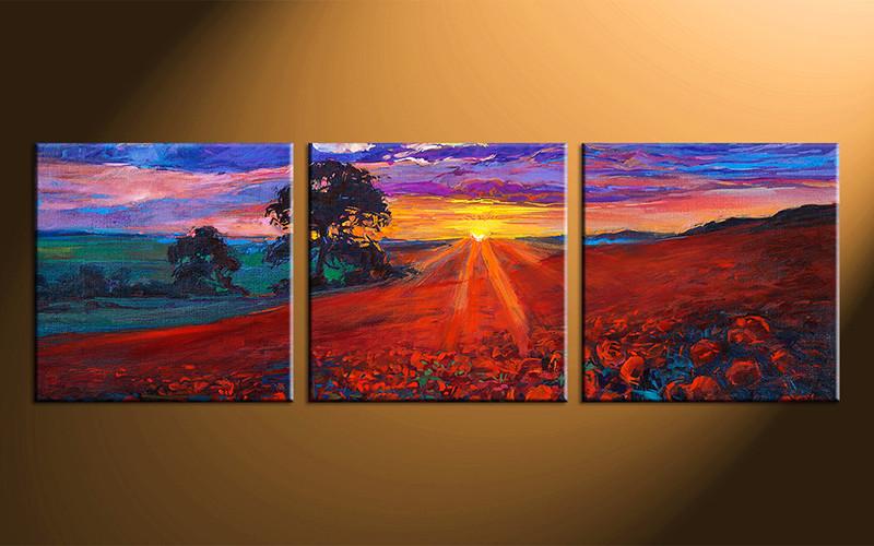 home decor3 piece canvas art sunrise scenery photo canvas scenery canvas photography