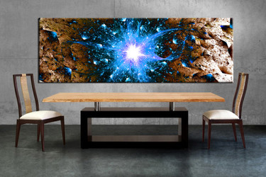1 piece large canvas, dining room artwork, blue modern canvas wall art, modern group canvas, modern photo canvas