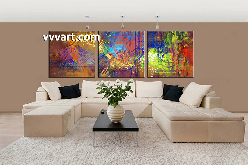 3 piece huge pictures living room multi panel canvas colorful abstract canvas wall art