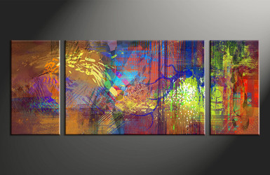 Abstract Wall Art 3 piece abstract wall art