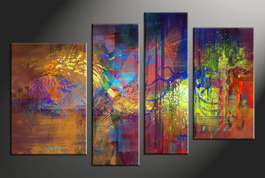 home decor,4 piece canvas photography, abstract wall art, colorful abstract canvas photography, abstract oil paintings huge pictures