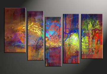 vvvart reviews,5 piece canvas wall art, home decor art, abstract canvas wall art, colorful abstract pictures, oil paintings huge pictures