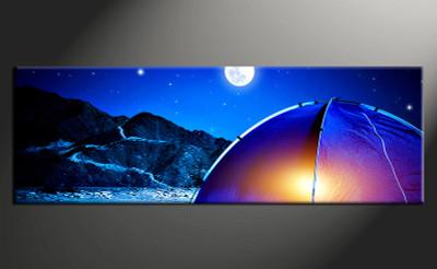1 piece large canvas, home decor artwork, blue landscape large pictures, landscape art