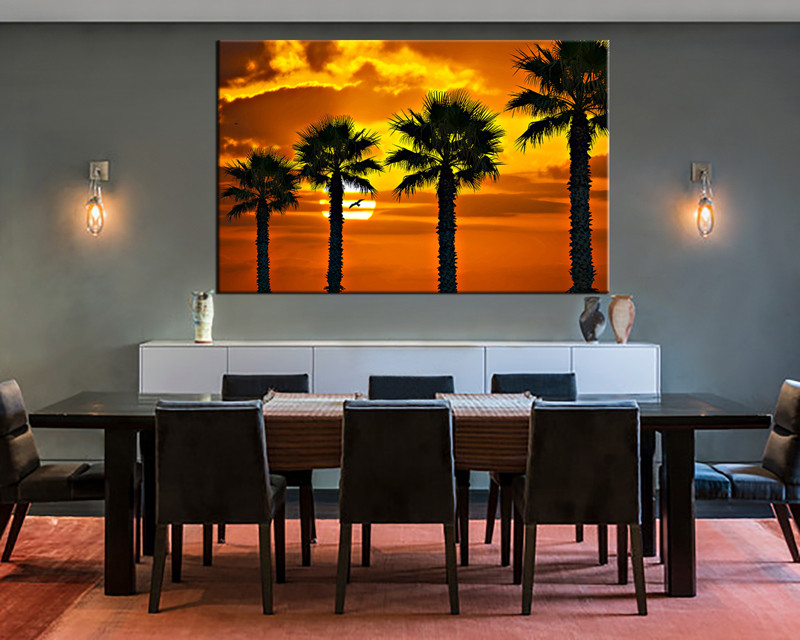 1 Piece Pictures Dining Room Canvas Photography Scenery Wall Art Large