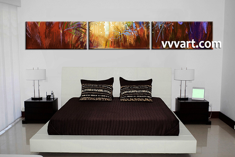 3 Piece Canvas Photography Bedroom Wall Art Scenery Pictures Colorful