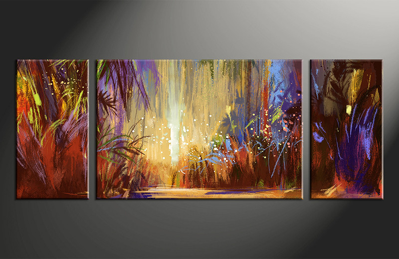3 Piece Colorful Oil Paintings Art Scenery Wall Decor