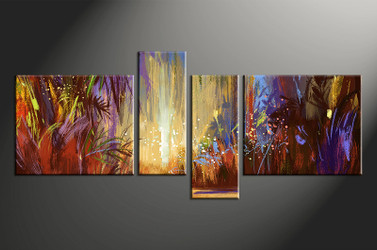 4 piece canvas photography, home decor artwork, colorful scenery photo canvas, scenery canvas photography, scenery oil paintings art