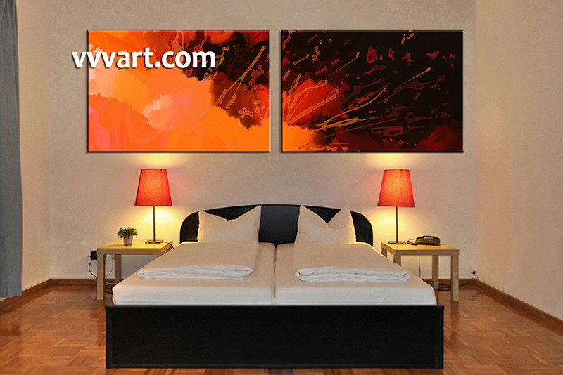 Delightful 2 Piece Canvas Art, Abstract Bedroom Canvas Wall Art, Abstract Pictures,  Abstract Canvas