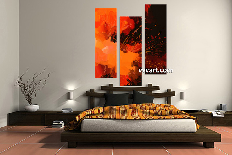 3 Piece Abstract Huge Group Canvas Oil Paintings