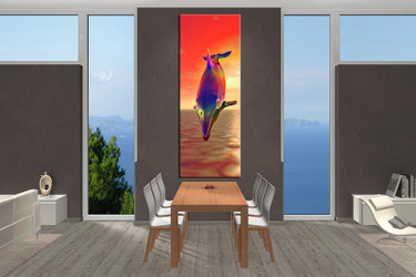 1 piece wall decor, dining room canvas photography, aquatic artwork, aquatic photo canvas