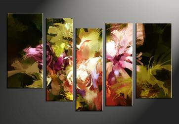 5 piece large canvas, home decor artwork, oil paintings floral large pictures, floral art