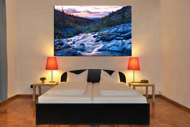 bedroom decor,1 piece canvas wall art, landscape blue canvas wall decor, landscape canvas prints, landscape canvas photography
