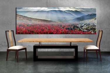 1 piece large canvas, dining room artwork, landscape canvas wall art, landscape group canvas, landscape red photo canvas
