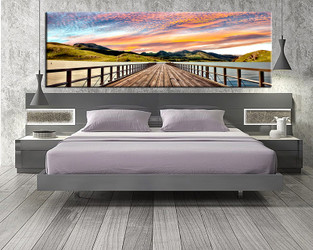 1 piece canvas art print, bedroom art, landscape wall art, landscape huge pictures, landscape colorful artwork