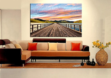 1 piece canvas wall art, living room huge canvas print,  landscape photo canvas, landscape colorful large pictures