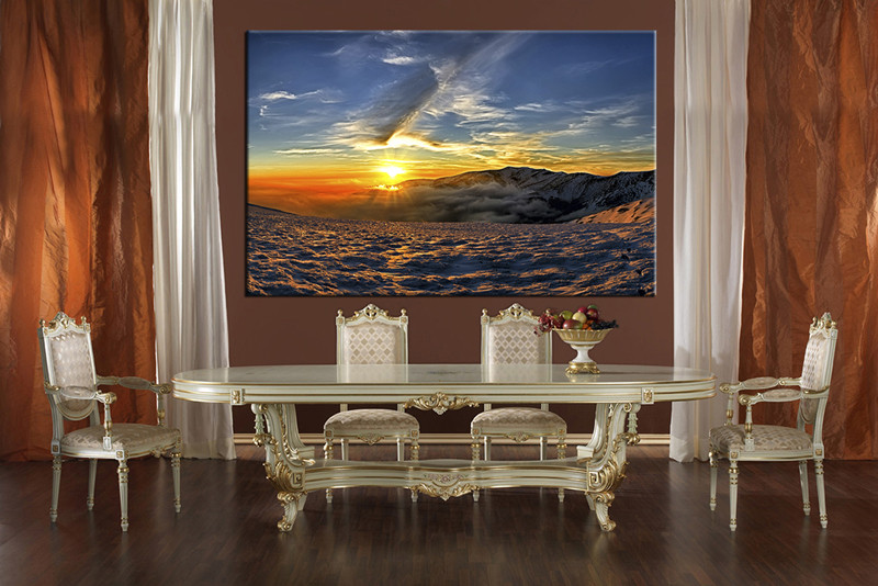 Brand-new 1 Piece Canvas Blue Artwork Landscape Wall Decor,canvas prints XX84
