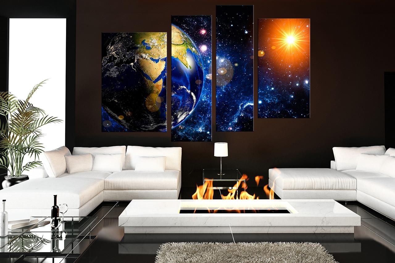4 Piece Wall Decor, Living Room Multi Panel Canvas, Modern Group Canvas,  Modern Part 77