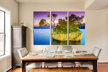 3 piece large pictures, ocean multi panel canvas, sea huge pictures, ocean canvas wall art, dining room art