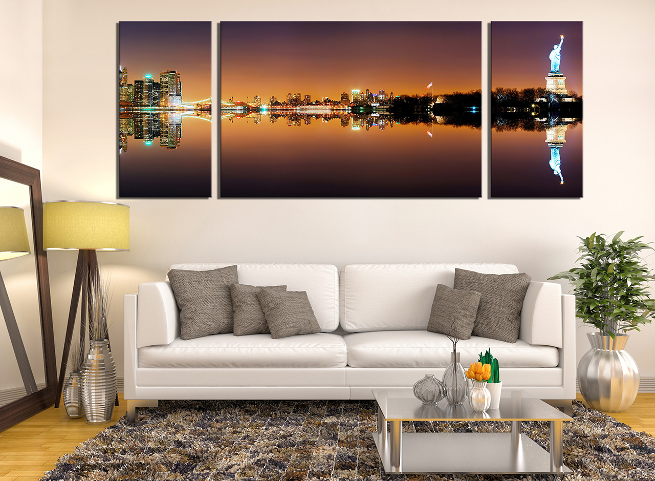 3 Piece Huge Pictures. Living Room Canvas Print, Living Room Large Canvas,  Brown