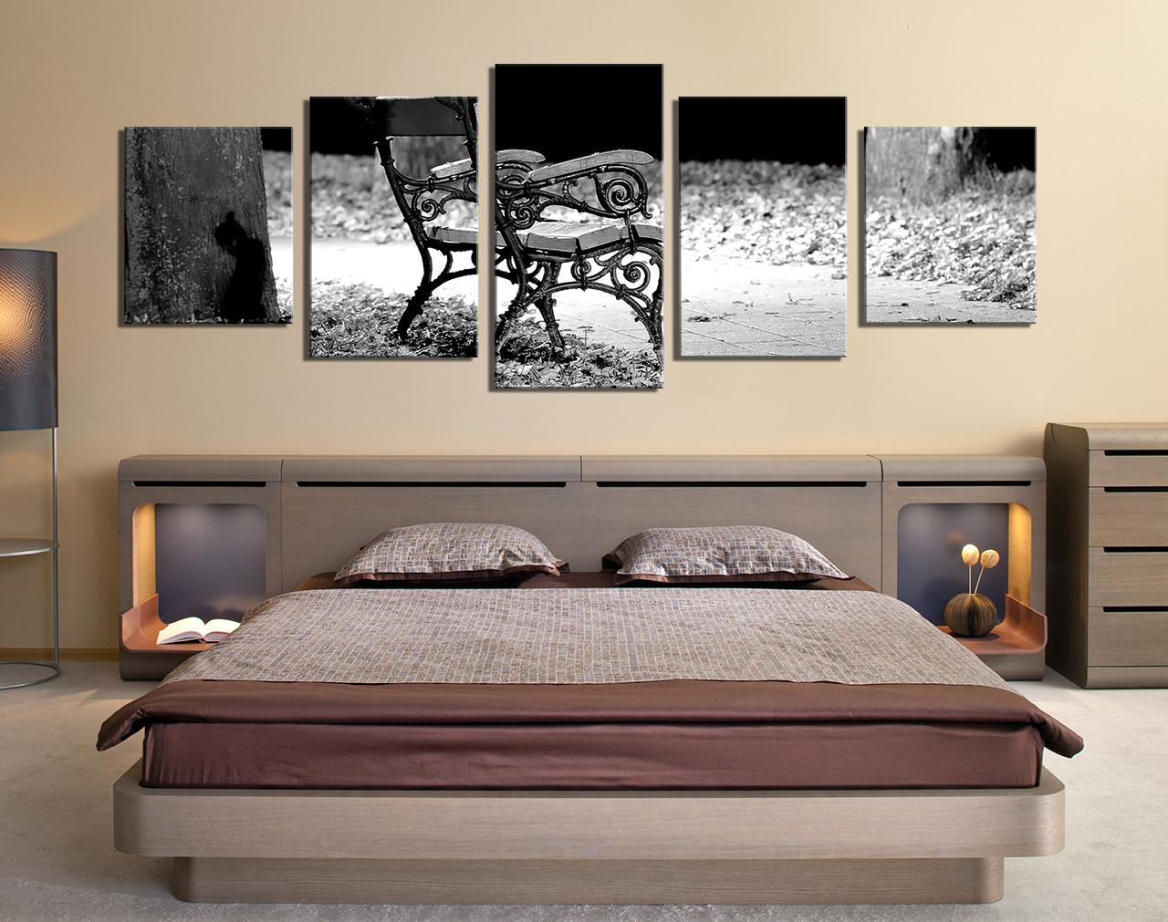 5 piece multi panel art bedroom large canvas modern canvas wall art grey