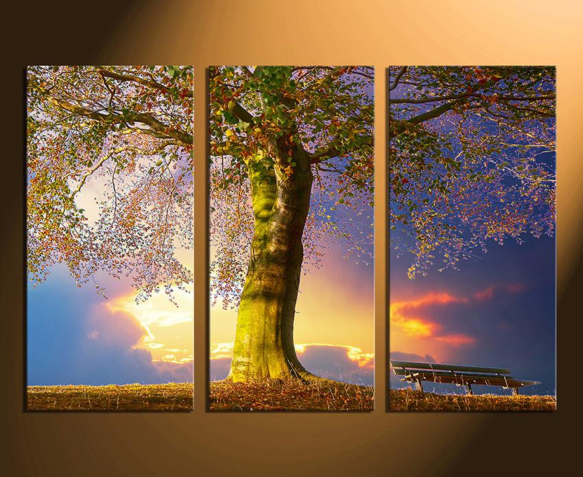 3 Piece Canvas Print, Scenery Huge Canvas Art, Blue Multi Panel ...