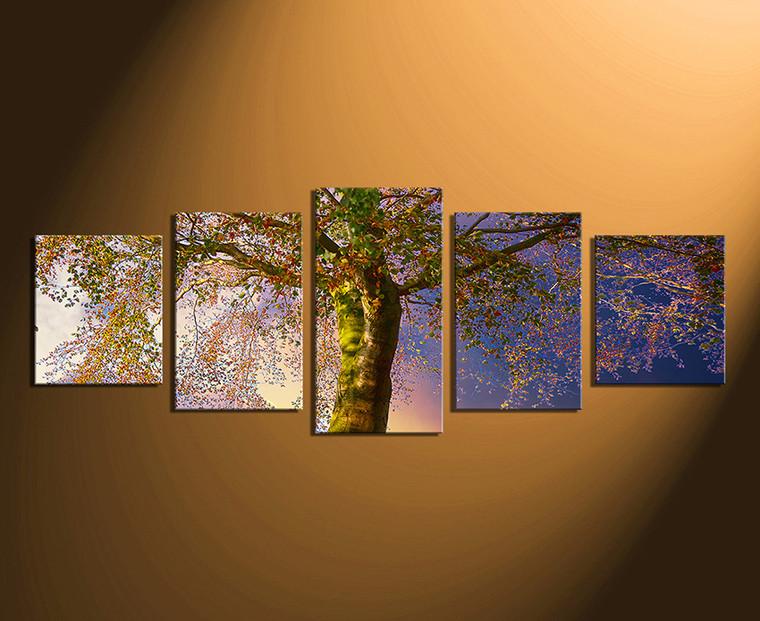 5 piece artwork scenery wall decor blue photo canvas. Black Bedroom Furniture Sets. Home Design Ideas