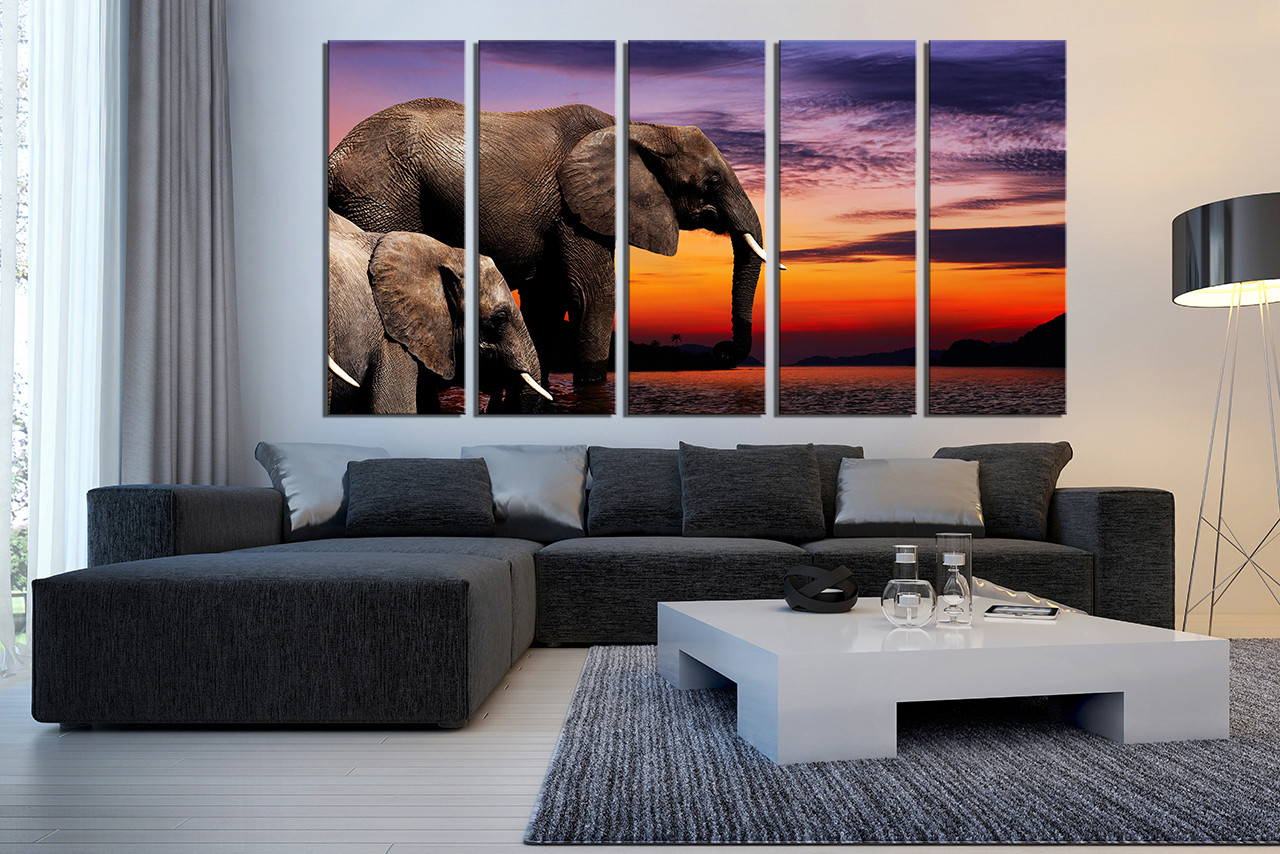 5 piece canvas wall art living room group canvas animal multi panel canvas