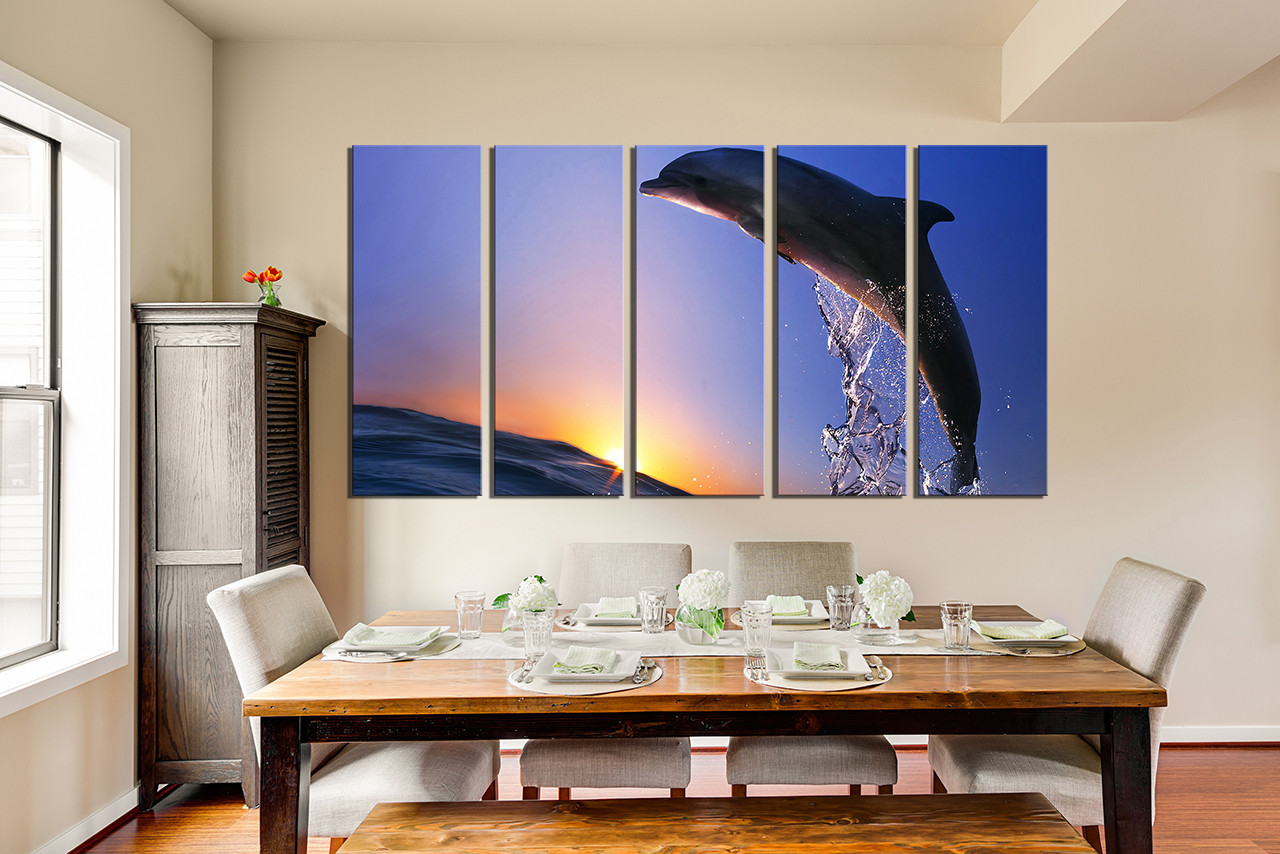 5 piece canvas print dining room canvas wall art blue sky group canvas