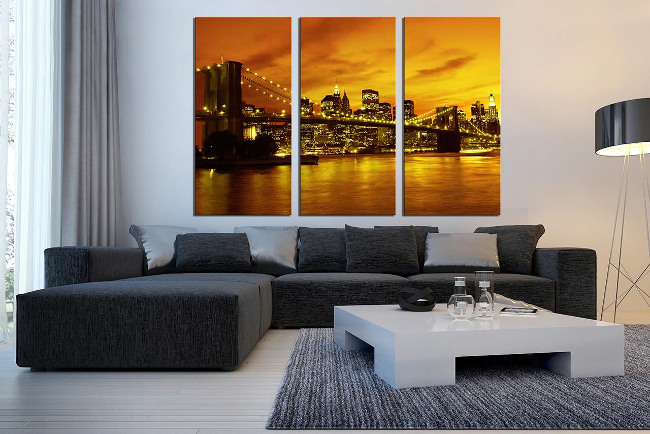 3 piece canvas art prints city light canvas photography city 3 piece wall decor city wall art yellow city photo canvas city light amipublicfo Image collections